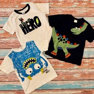 Gymboree Monster Dinisaur Short Sleeve T-Shirts